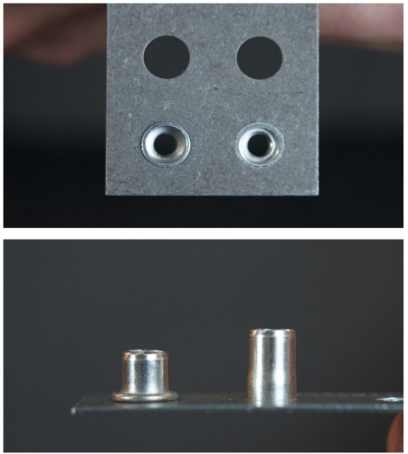 Визуальная проверка при клепании слепых заклёпок